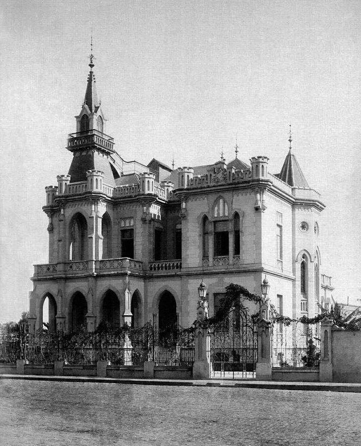 1900 - Praça da República esquina com rua Marques de Itu- Palacete Lacerda Soares - Um projeto de Ramos de Azevedo de 1892.