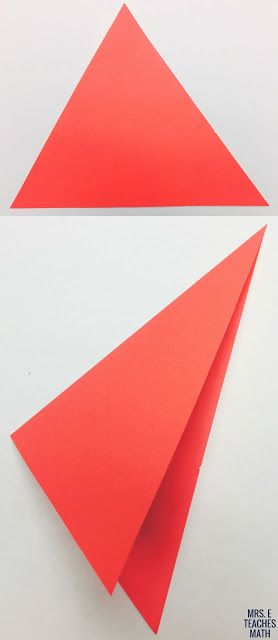 Angle Bisectors in Triangles Paper Folding Activity