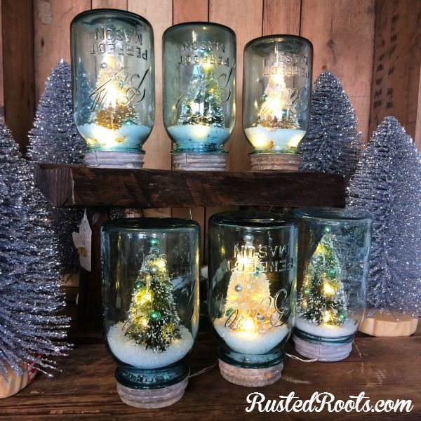 49 best images about christmas junk art on pinterest for Christmas glass jars