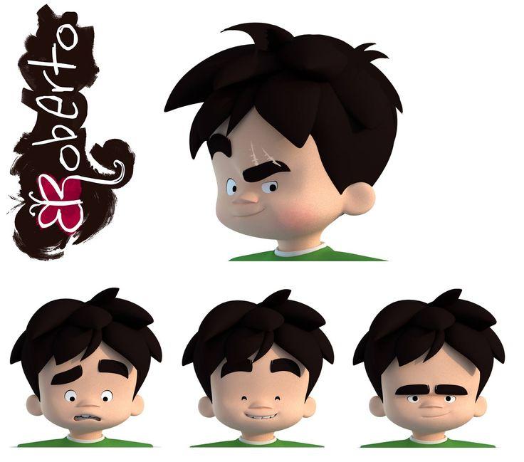 3D model for child Roberto. Blender
