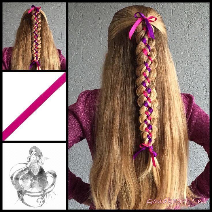Six strand ribbon braid with a pink and purple ribbon from the webshop www.goudhaartje.nl (we ship worldwide) Braid is inspired by: @svetlana.style  (instagram) #6strandribbonbraid #6strandbraid #ribbonbraid #ribbon #braid #braids #halfup #halfupdo #hairideas #hair #hairstyle #hairinspiration #hairaccessories #haar #vlecht #haarstijl #haaraccessoires #vlechten #beautifulhair #longhair #mooihaar #langhaar #goudhaartje