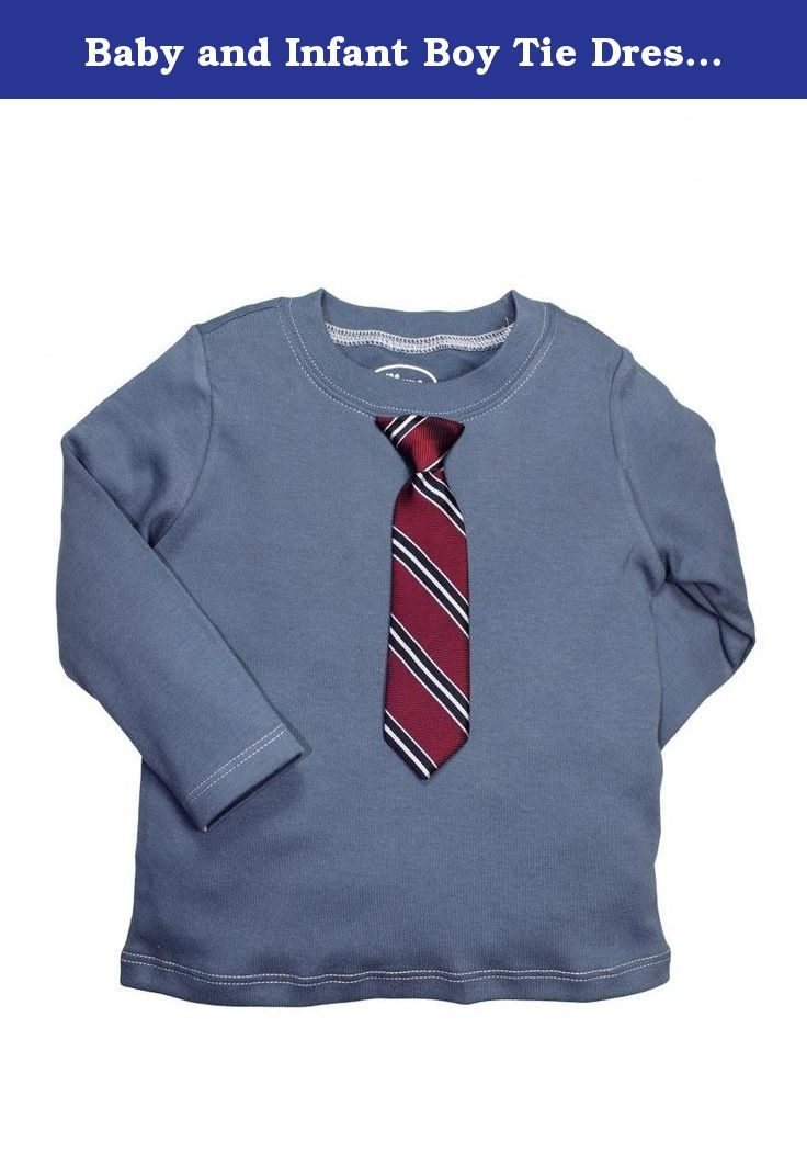 Baby and Infant Boy Tie Dress Up Long Sleeve T-Shirt by Blume - Blue - 18 Mths. Baby or toddler boys tie dress up long sleeve t-shirt. The shirt and tie are attached to the shirt, makes dressing up your toddler or baby a breeze or just keeping your little guy styling all the time.