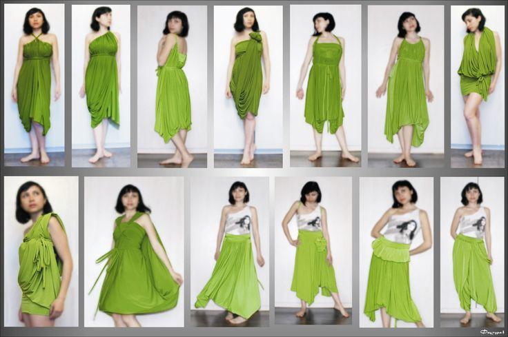 Como hacer y ponerse Vestidos Multiusos <sub> Patrones</sub> - enrHedando