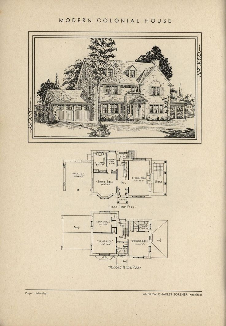 505 best vintage house plans 1930s images on pinterest for Antique colonial house plans