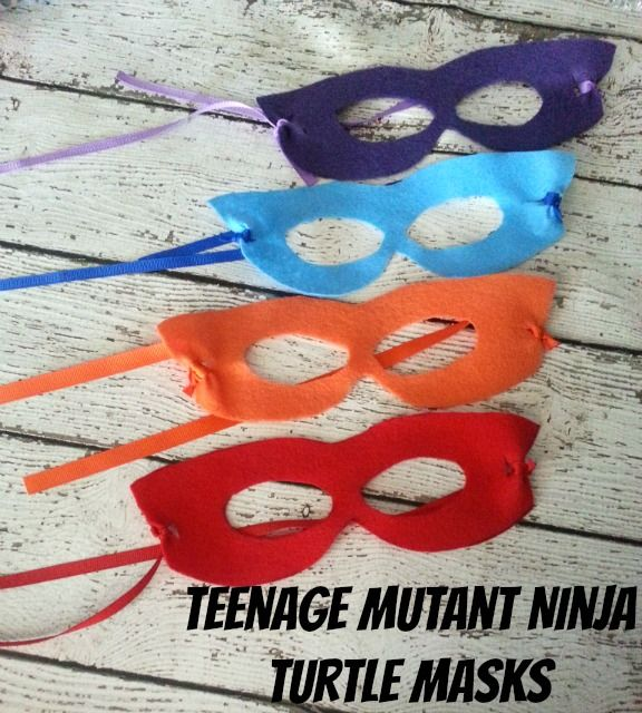 How to Make Teenage Mutant Ninja Turtle Masks