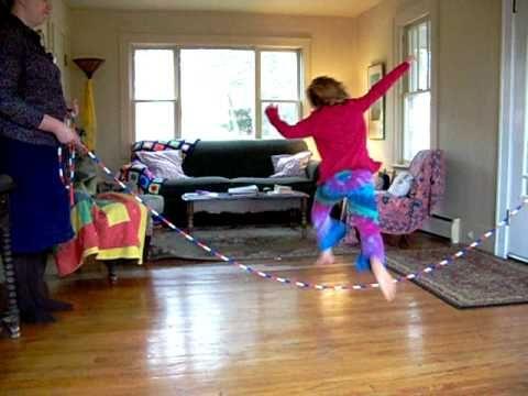Beginning Jumping rhymes here http://homespunwaldorf.com/wordpress/2012/02/play-jump-rope-games/#more-741