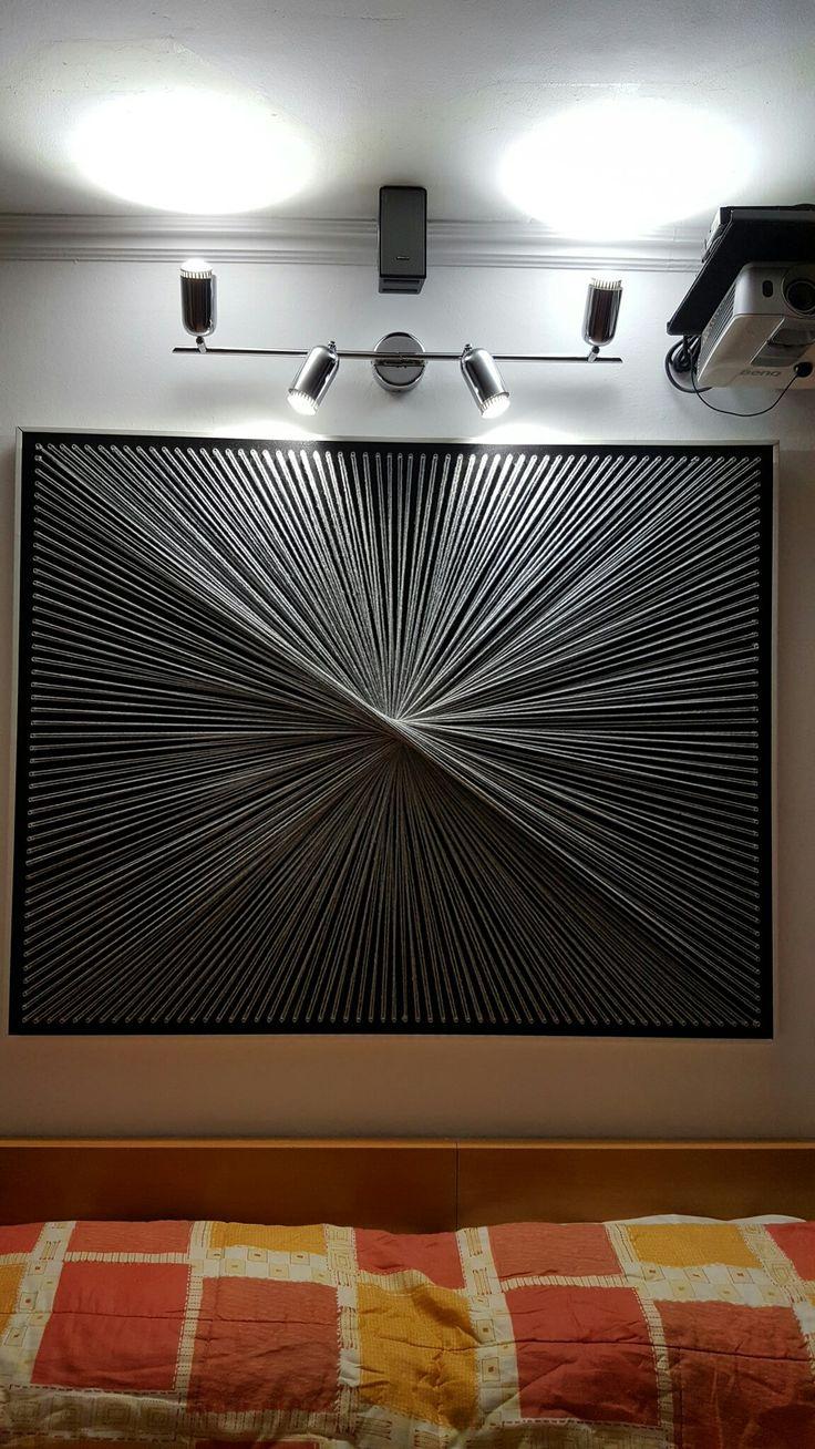 588 best Fadenbilder / String Art images on Pinterest | Nail ...