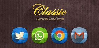 Classic Material Icon Pack v1.4.0  Jueves 8 de Octubre 2015.By : Yomar Gonzalez ( Androidfast )   Classic Material Icon Pack v1.4.0 Requisitos: 3.1  Descripción: Consigue los iconos xxxhdpi mejor aspecto en la resolución de 192px con aspecto vintage. CARACTERÍSTICAS:  Más de 1830 iconos en 192x192px (xxxhdpi)  12 fondos de pantalla  7 iconos dock para lanzadores soportados  20 icono colores de fondo  máscara Icono de iconos unthemed  apoyo calendario dinámico  completa TSF Shell 3.0 (Nuevo)…