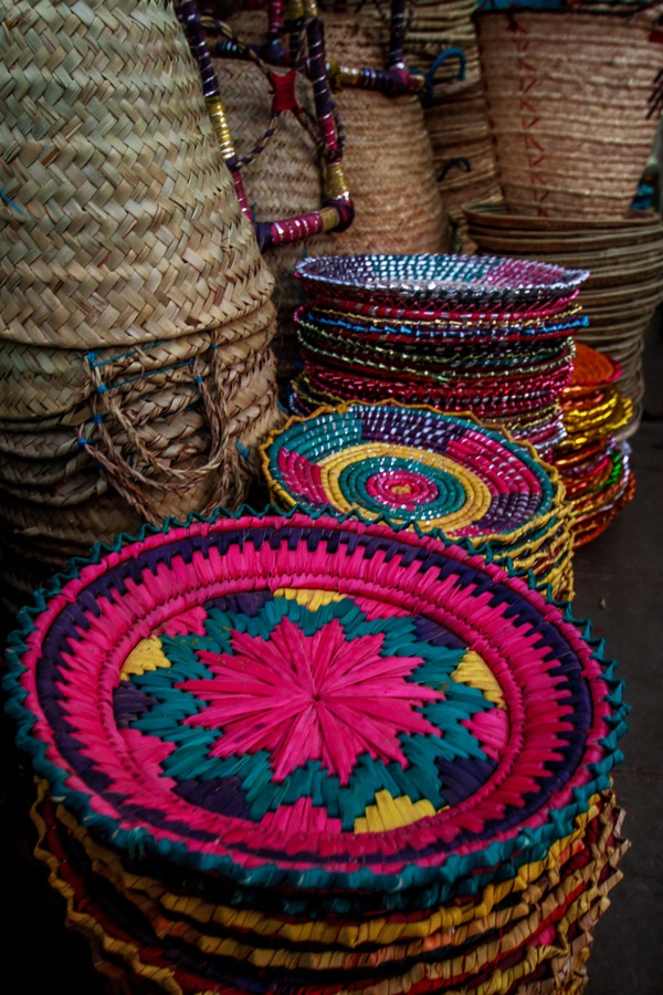 Handcrafted baskets sold extremely cheap on the streets of Jeddah, Saudi Arabia.