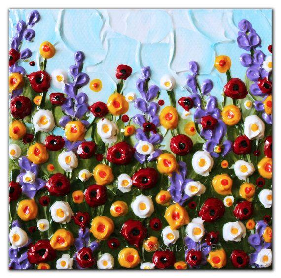 Primavera de pintura arte de la Mini lona por SKArtzGallerE en Etsy