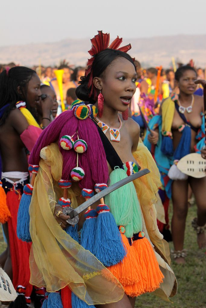 Swaziland - Umhlanga Or Reed Dance  Faces And Costumes -1217