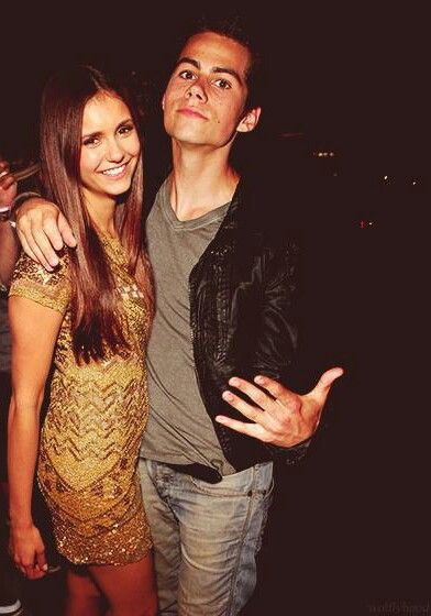 dylan o´brien and nina dobrev. The only thing missing is Ian.