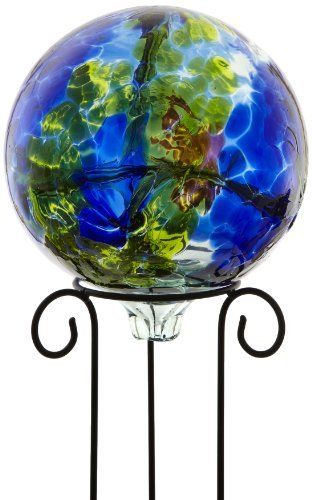 Kitras 10-Inch Gazing Ball, Multi/Blue by Kitras Art Glass. $128.82. Stand is included. Can be used indoors or outdoors. Handmade in Canada. These handcrafted gazing balls swirl with a mixture of brilliant colors when placed in a sunny spot. The webbing on the inside captures the light and makes a dramatic statement. Can be used indoors and outdoors year round.. Save 12% Off!