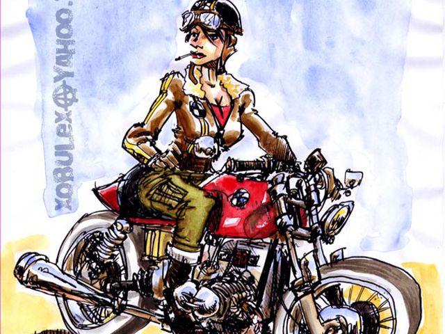 Contribution en ligne offrez vous un livre de dessins - Dessin de motard ...