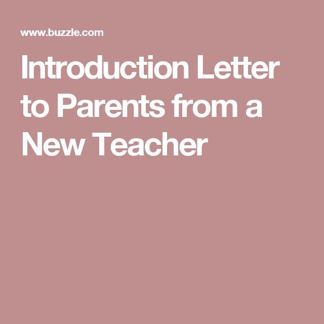 Best 25+ Teacher introduction letter ideas on Pinterest - introduction speech example