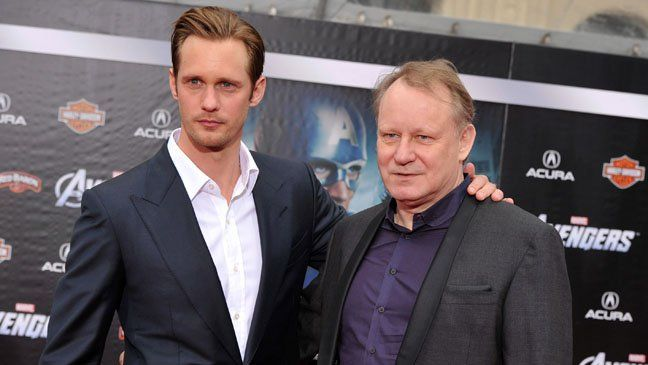Father...Stellan..But his prolificacy extends beyond his professional life: Skarsgard, 61, has become a father for the eighth time on Friday, a rep for the actor confirms to The Hollywood Reporter. The child, a healthy boy, was born to wife Megan Everett in Stockholm. The couple shares one other child, three-year-old son Ossian.