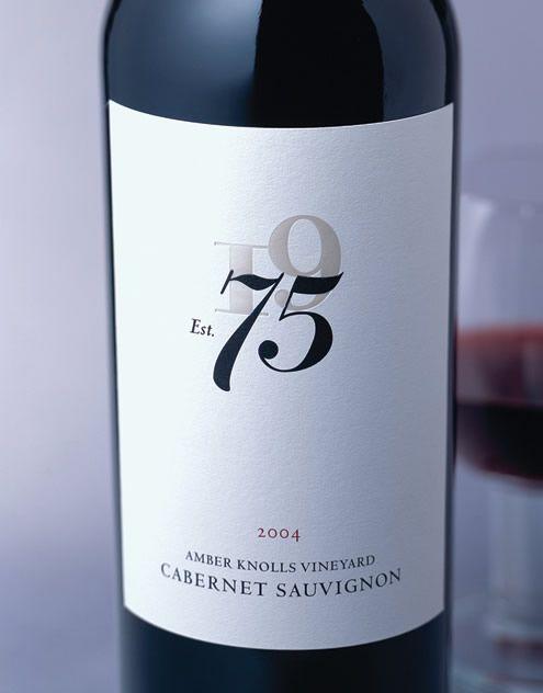 75 Wines Wine Tuck Beckstoffer Wines Wine Label & Package Design Amber Knolls Vineyard Wine Label & Package Design Lake County Award Winning