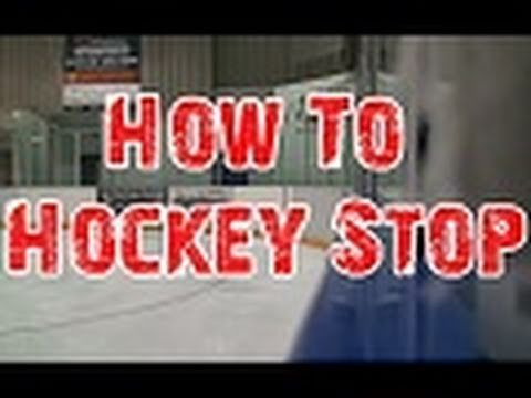 How To Hockey Stop for Beginners!