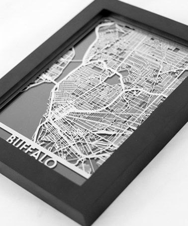 As a map lover, I am a sure buyer for map art..& this is really cool!  This Stainless Steel Buffalo Map Framed Wall Art is perfect! #zulilyfinds