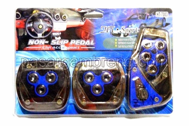 HT Sports Pedal Set Silver Blue - Pasar Gambreng
