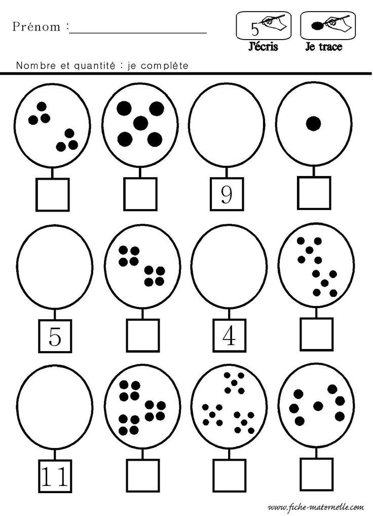 Épinglé sur Mathématique au préscolaire