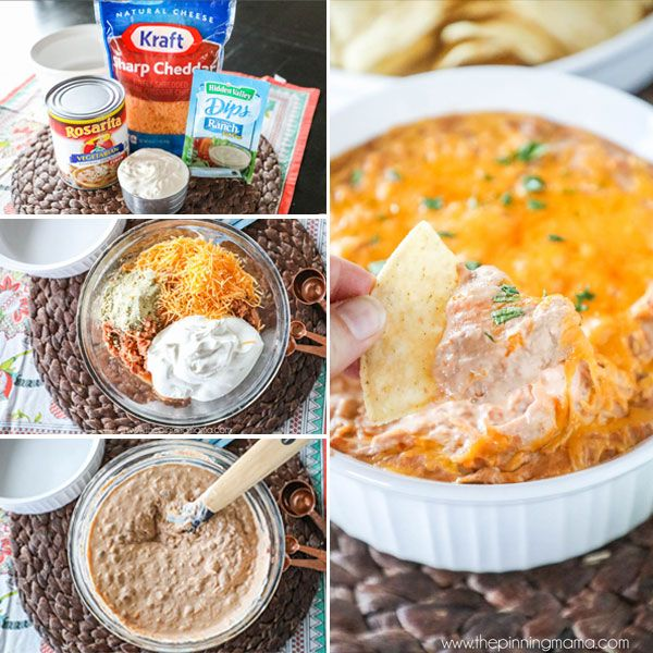 This Cheddar Ranch Bean Dip recipe is absolutely the perfect quick and easy party appetizer. You only need 4 ingredients and you can have it from the pantry to the oven in just 5 minutes and to the…