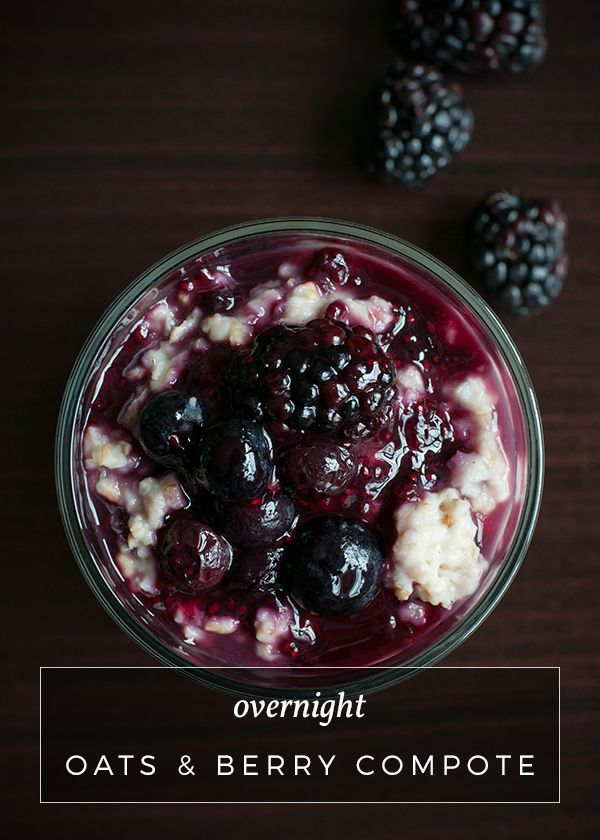 Overnight Oats with Berry Compote | No Gojis, No Glory