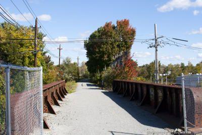 Bridgehunter.com | Andover Street Railroad Bridge, Rail Trail, Danvers MA.