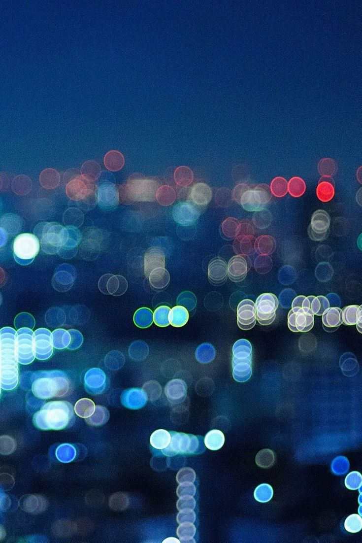 Blurry Lights In A City Blurry Lights City Wallpaper Best Iphone Wallpapers