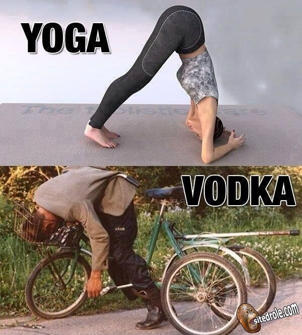 Yoga vs Vodka ... image drole