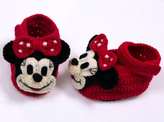 Zapatos lindos de ganchillo bebé niña. por Naritar en Etsy