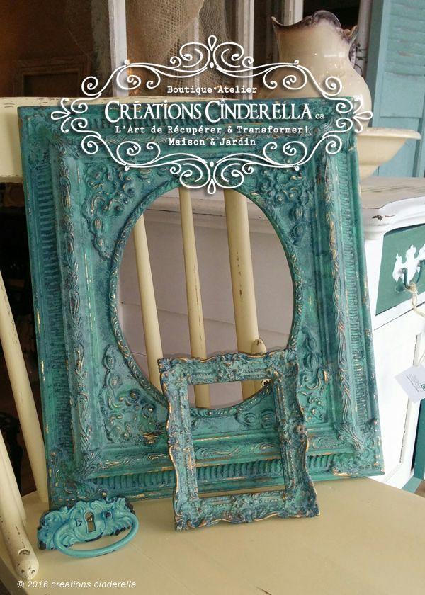 Vous voulez apprendre à faire ce faux-finis vert-de-gris... Chez Créations Cinderella vous pouvez suivre un atelier et le faire vous-même sur plein d'objets par la suite...
