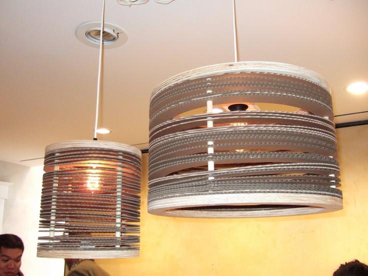 Lámparas de Carton