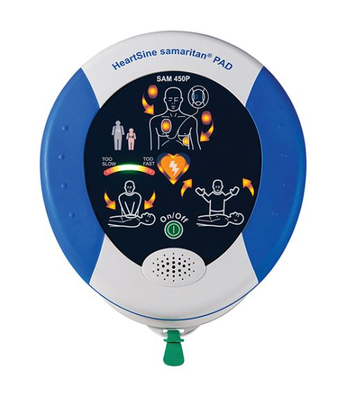 Hearsine samaritan® PAD 450P, The HeartSine samaritan® PAD 450P was designed especially for use in public areas by providing a sophisticated #defibrillator for adult or pediatric use, inside a lightweight and easy-to-operate system.