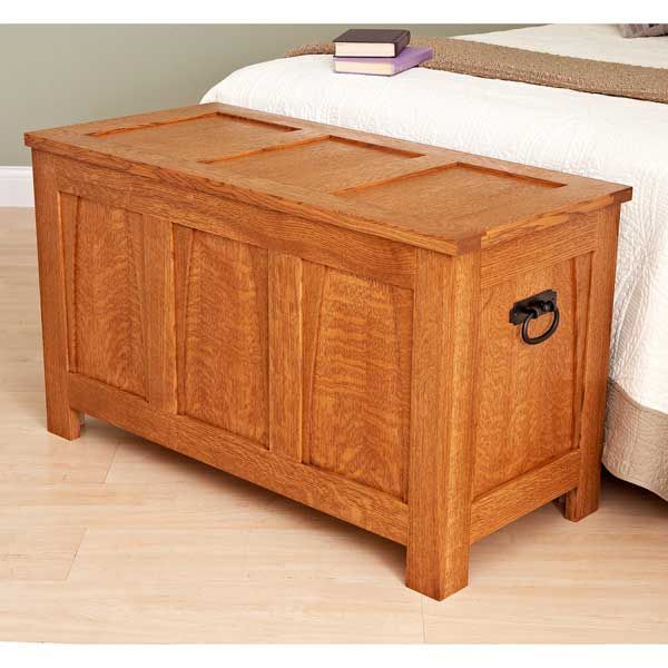 Shaker blanket chest plans free woodworking projects plans for Blanket chest designs