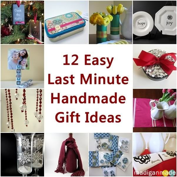 12 easy last minute handmade holiday gift ideas madigan for Easy last minute christmas gifts to make