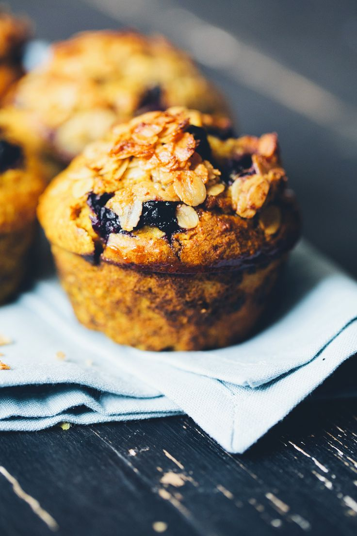 Turmeric Breakfast Muffins-a mash-up between a banana pancake, oatmeal, granola and our turmeric lassi. They have a wonderful rich walnut flavor with a turmeric and blueberry twist. They are sweet, although in a perfectly breakfast kind of way. One muffin leaves you quite satisfied, but I often bring another one as a second breakfast to-go