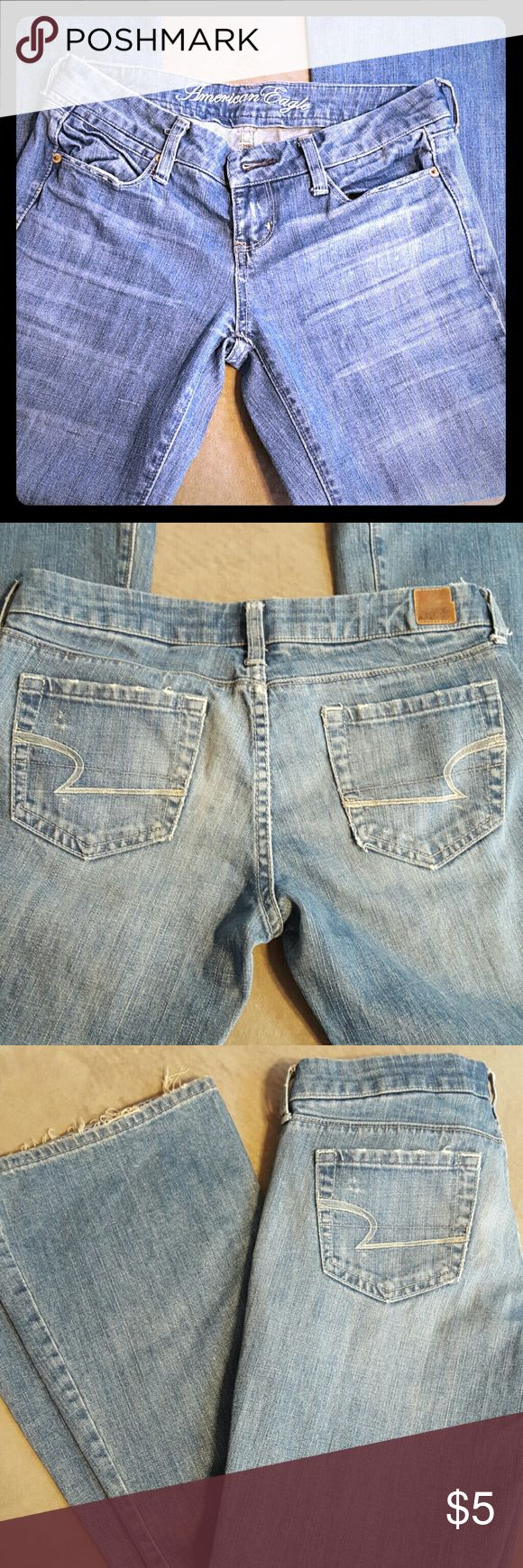 💥SaLe!!💥 American Eagle jeans only $5!! American eagle jeans only $5!! What a steal! Worn lots of times yet still in decent shape. Woooowhoooooo!! American Eagle Outfitters Jeans