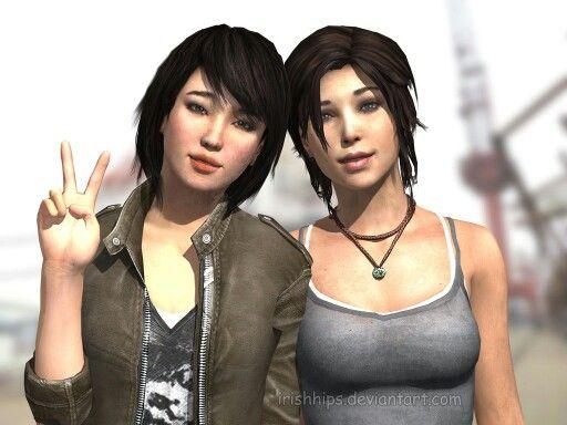 Lara Croft & Sam  Tomb Raider 2013