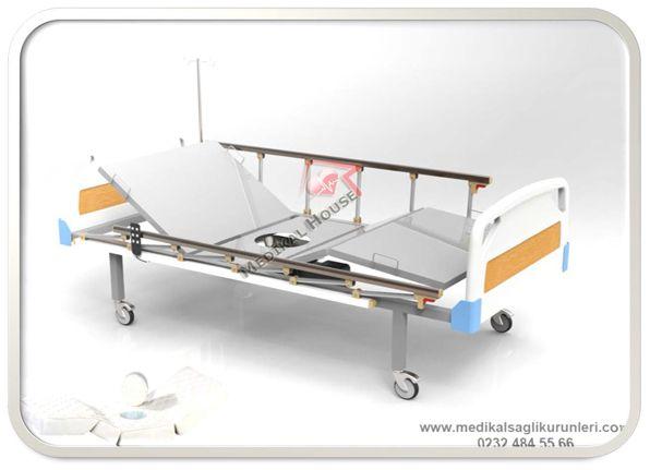 elektrikli motorlu ev tipi hastane karyolası