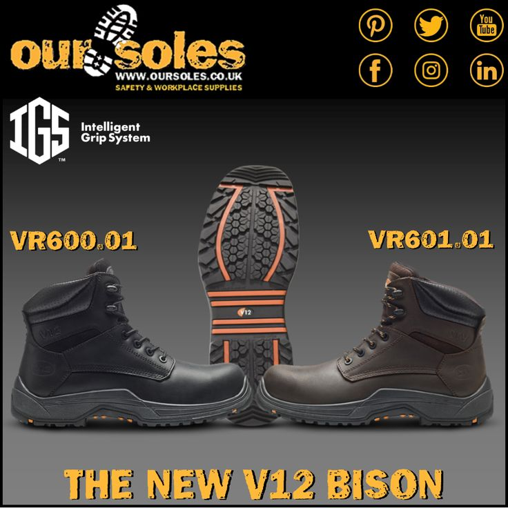 Available to buy online & in-store now! The brand new IGS Bison from V12Footwear! What's the difference between the old and the new Bison? Besides featuring the innovative IGS rubber sole unit, the new Bison is now a fully metal free boot, allowing it to be used around scanners & electrical hazards safely. Being metal free doesn't mean your foot is any less protected, the wide fitting, thermal insulating composite toecap and the flexible, pierce resistant woven fibre midsole protect your…