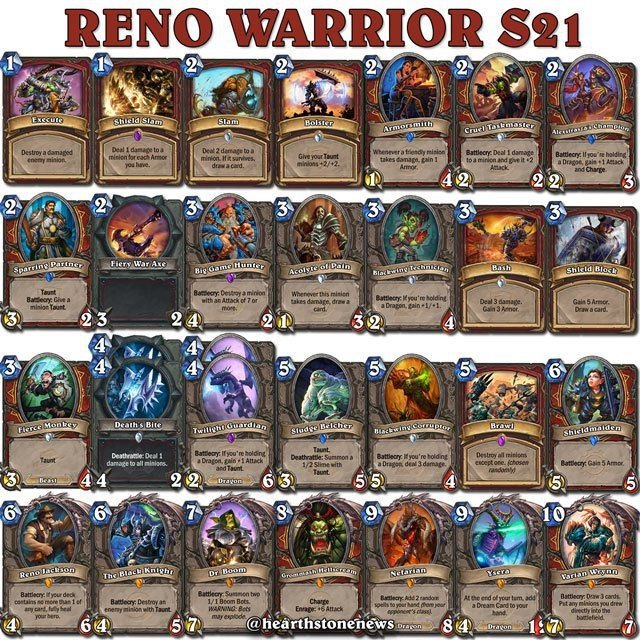 reno warrior deck