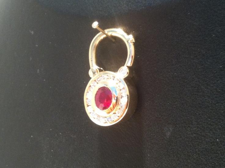 Diamond an ruby locket