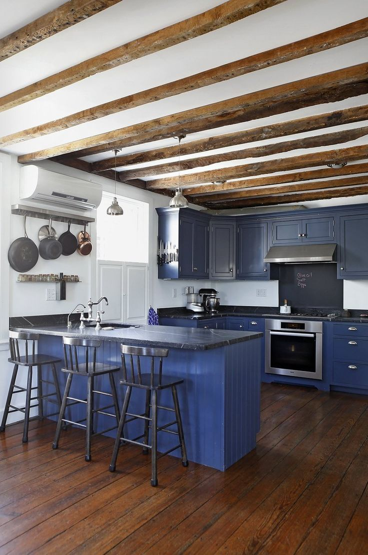 Kitchen cabinets rhode island - House Tour A Light Filled 1772 Colonial House Blue Kitchen Cabinetskitchen