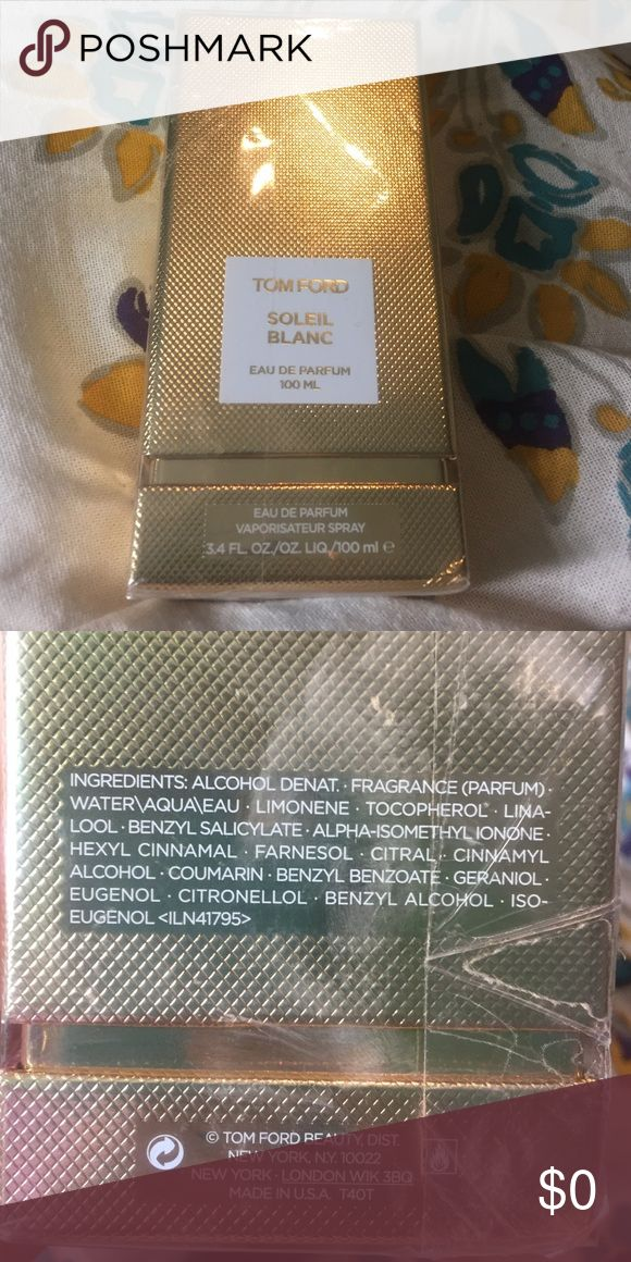 Tom Ford Soleil Blanc Eu de Parfum New in box. Never opened perfume. Received as a gift. Price is firm, non-negotiable. Sephora Accessories