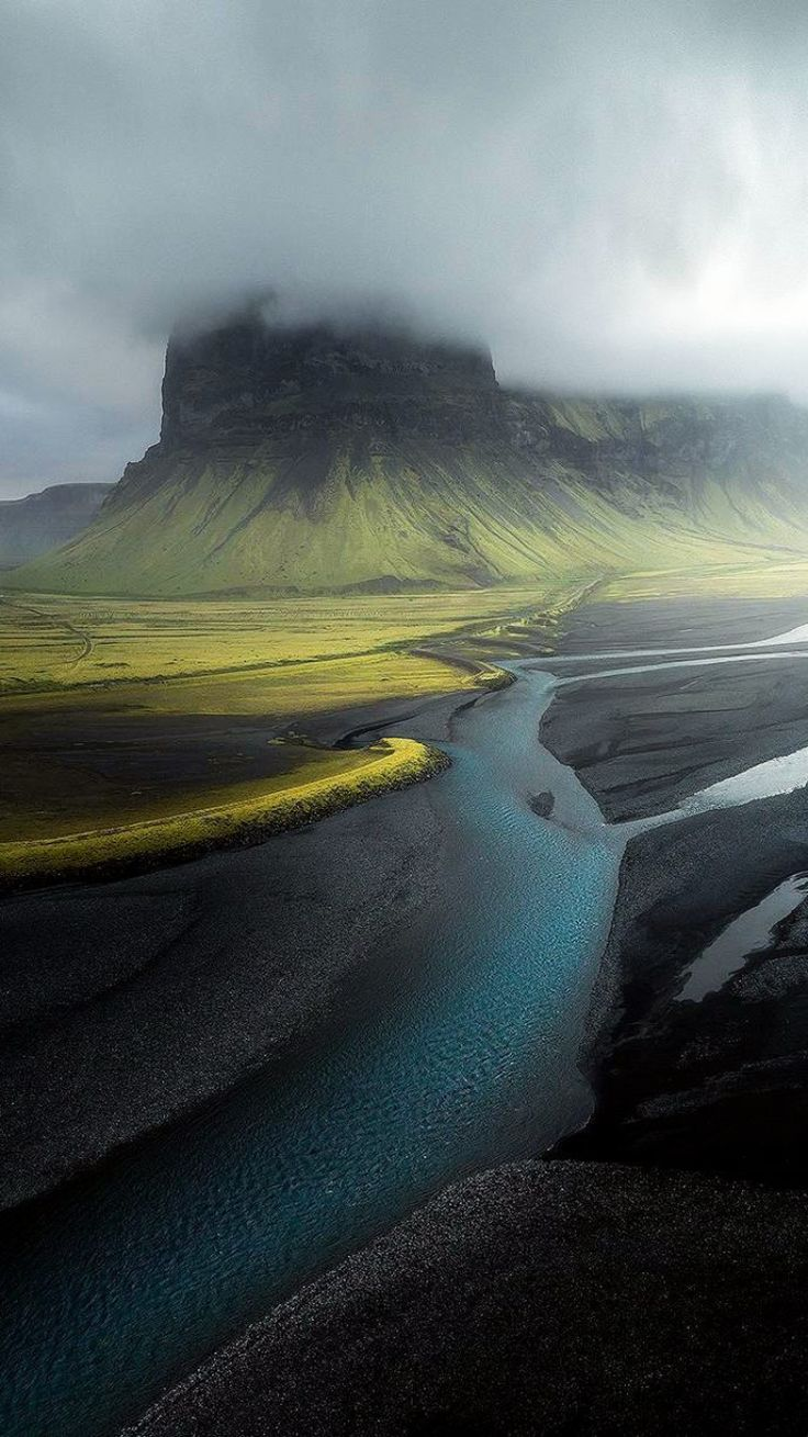 Iceland rising from the mist