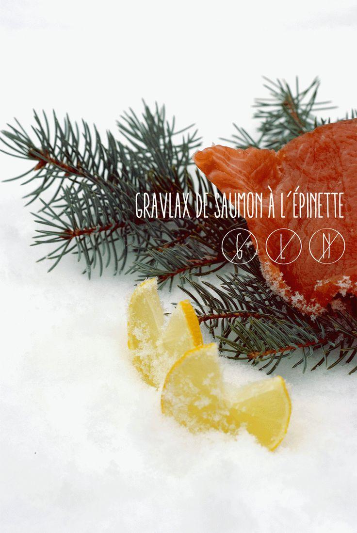 La prémisse: GRAVLAX DE SAUMON À L'ÉPINETTE