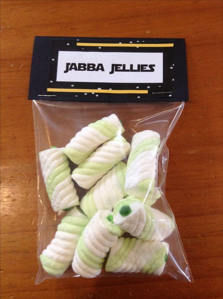 Jabba Jellies - strange little marshmallows filled with apple goo!