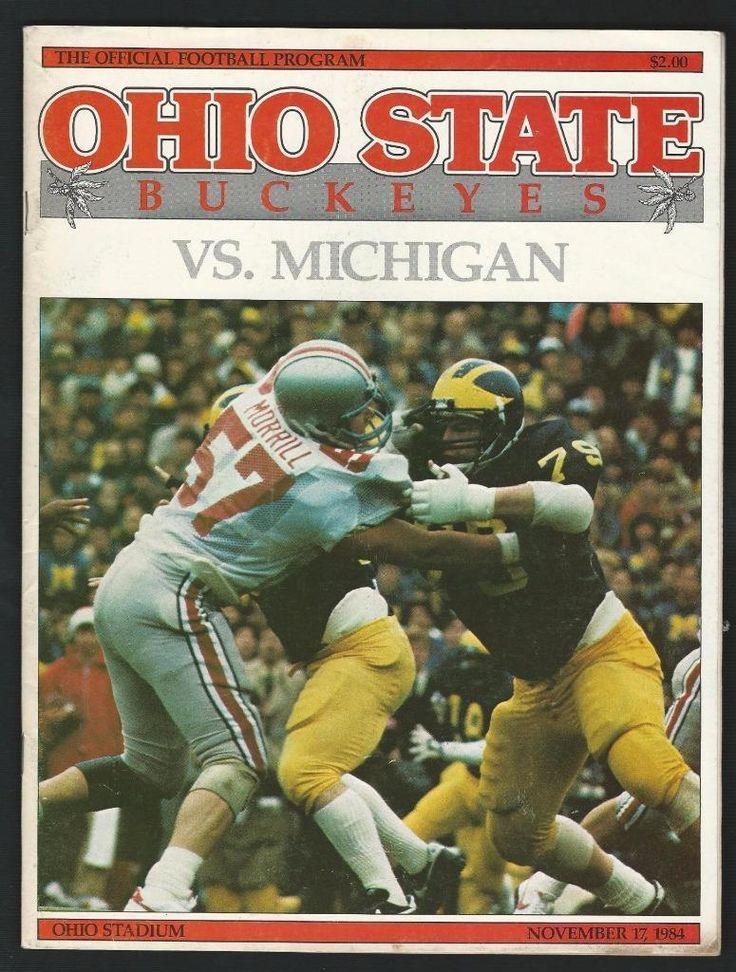 1984 OHIO STATE BUCKEYES vs MICHIGAN WOLVERINES Football Program !!! | eBay