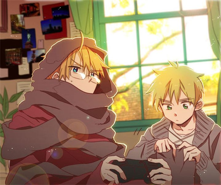 America & England<< let's all take a sec to realize that Arthur can knit! (He probably learned from Russia.)